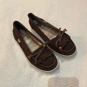 Vans Off The Wall Brown Flats • Size: 8